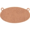 Metal Blank 24ga Copper Oval 25x12mm With Hole